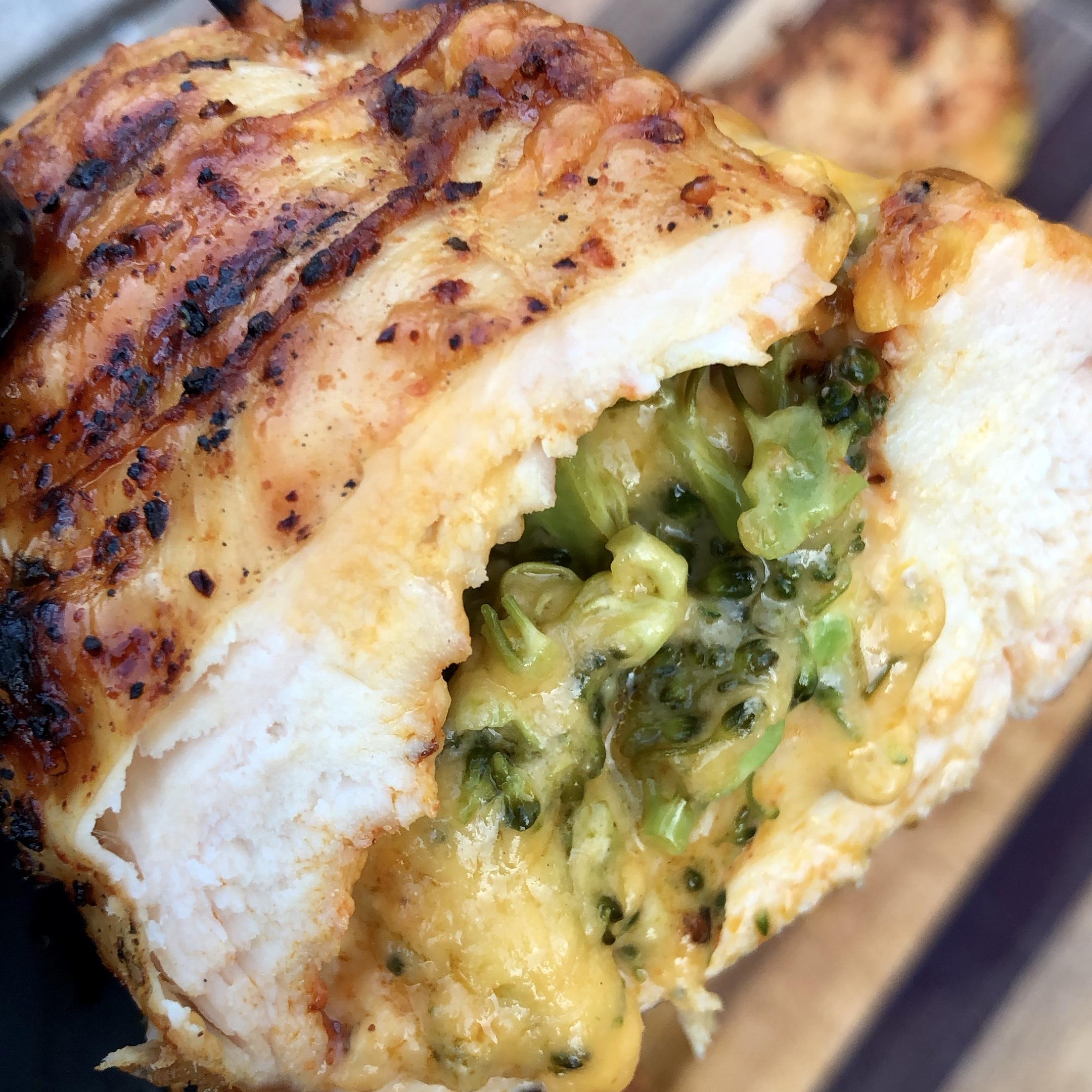 Broccoli And Cheddar Stuffed Chicken Breast Recipe Grillin With Dad