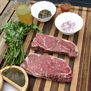 ingredients for the pepper crusted steak
