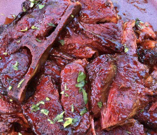 slow smoked pork steaks