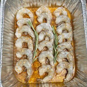 prepped shrimp
